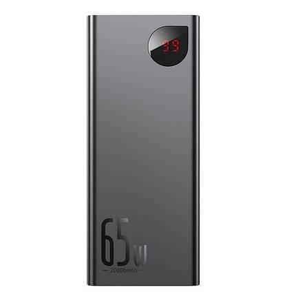 Внешний аккумулятор повербанк power bank BASEUS 20000mAh с технологией быстрой зарядки 2USB/1Type-C, 6A, 65W, фото 2