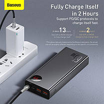 Внешний аккумулятор повербанк power bank BASEUS 20000mAh с технологией быстрой зарядки 2USB/1Type-C, 6A, 65W, фото 3