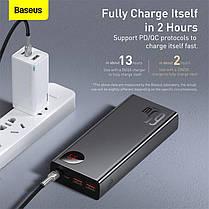 Зовнішній акумулятор повербанк power bank BASEUS 20000mAh з технологією швидкої зарядки 2USB/1Type-C, 6A, 65W, фото 3