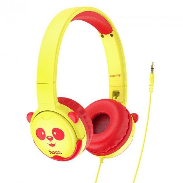 Детские наушники Hoco Childrens headphones W31 для компьютера смартфона ПК/Android/PS4/Xbox Yellow