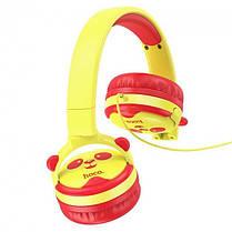 Детские наушники Hoco Childrens headphones W31 для компьютера смартфона ПК/Android/PS4/Xbox Yellow, фото 2