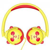 Детские наушники Hoco Childrens headphones W31 для компьютера смартфона ПК/Android/PS4/Xbox Yellow, фото 3