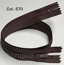 Плательная молния Тип 3 темно-коричневый