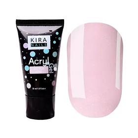 Kira Nails Acryl Gel - Glitter Pink, 30 г