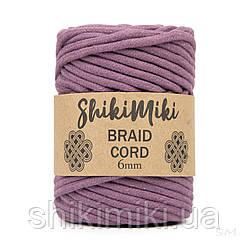 Трикотажний бавовняний шнур Shikimiki Braid Cord 6 мм, колір фіолетовий