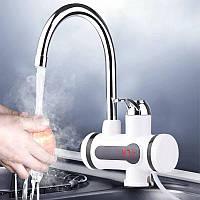 Проточный водонагреватель электрический с экраном, мгновенный нагреватель проточной воды кран-водонагреватель