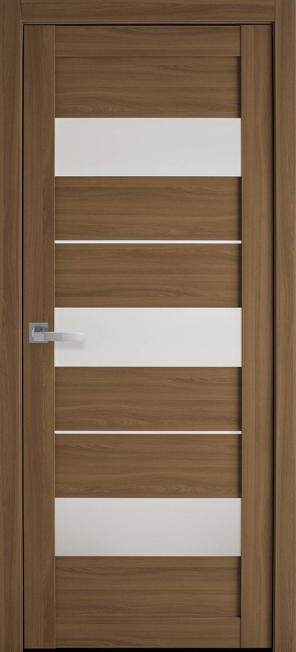 Дверне полотно ПВХ Леона дуб перлинний 80 п/о (Вітрина)