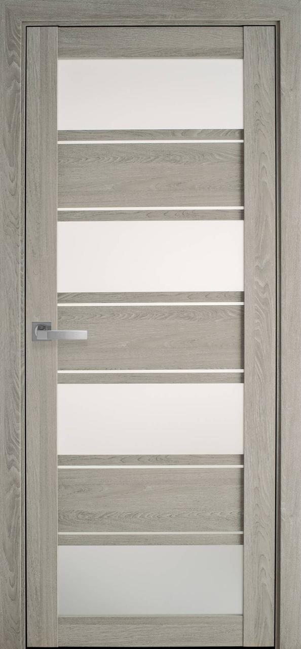 Дверне полотно ПВХ Ультра Еліза дуб молочний 80 П/О (вітрина)