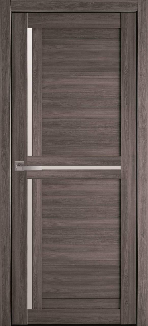 Дверне полотно Трініті сандал 80 п/о (Вітрина)