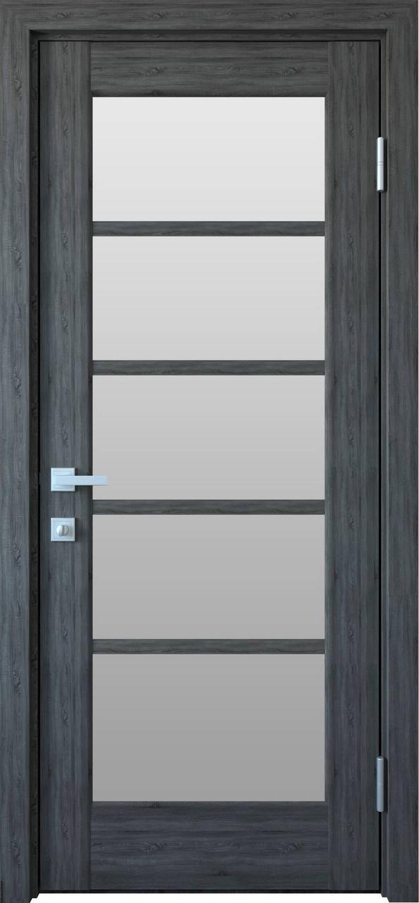 Дверне полотно ПВХ Муза золота вільха 80 П/О (вітрина)