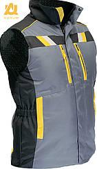 Жилет рабочий защитный сигнальный на утепленной подкладке AURUM EVEREST GBY XL рост 170 см