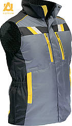 Жилет рабочий защитный сигнальный на утепленной подкладке AURUM EVEREST GBY L рост 170 см