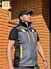 Жилет рабочий защитный сигнальный на утепленной подкладке AURUM EVEREST GBY L рост 170 см, фото 2