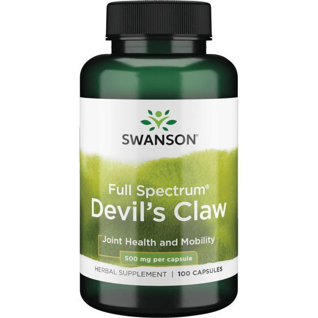 Коготь дьявола, Swanson, Devil's Claw, 500 мг, 100 капсул