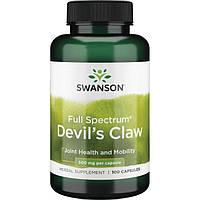 Коготь дьявола, Swanson, Devil's Claw, 500 мг, 100 капсул, фото 1