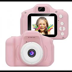 Дитячий цифровий фотоапарат Kids Camera GM14 з записом відео Рожевий