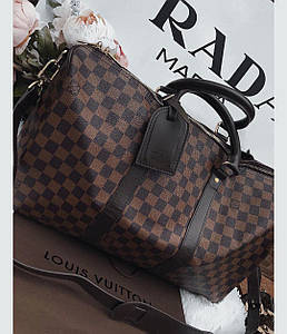 Сумка Louis Vuitton Keppall коричнева шахматка, Люкс, 50 см