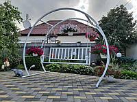 Садовая качеля 3-х местная, металлическая