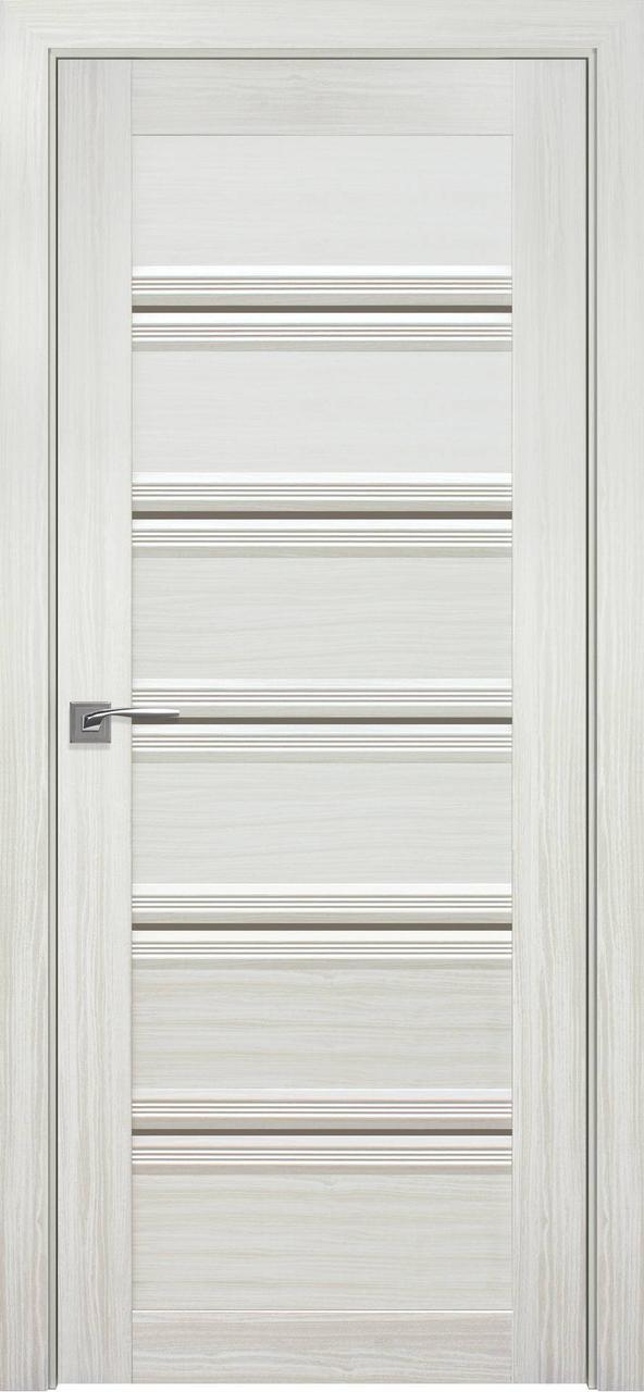 Дверне полотно ПВХ Смарт Ветченза С1 перли білий 80 п/о (BR) Вітрина