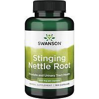 Крапива двудомная Корень, Stinging Nettle Root, Swanson, 500 мг, 100 капсул