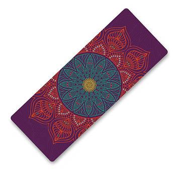 Коврик для занятий фитнесом и йогой Dingming YZS-16 TPE 1830*660*6mm Объемный цветок (4825-15357a)