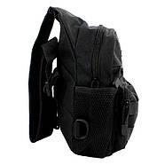 Рюкзак тактичний на одне плече AOKALI Outdoor A14 20L Black (5368-16999a), фото 2