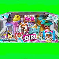 Игровой набор с куклой Girl Прачечная