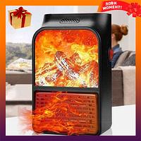 Обогреватель для комнаты с пультом Flame Heater 500 Вт Экономный портативный обогреватель для дома мини камин