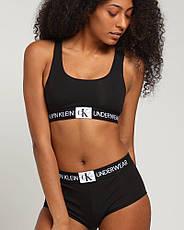 Набор женского белья топ стринги шортики Calvin Klein Monogram Black, фото 3