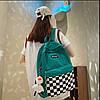 Рюкзак с карманом в клетку, фото 2
