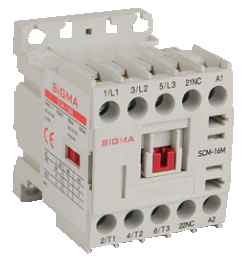 Миниконтактор 3-х полюсный, доп.контакт 1НО 7,5 kW 16А АС-3 на DIN дин рейку цена купить