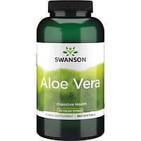 Алоэ вера, Swanson, Aloe Vera, 25 мг, 300 капсул