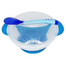 Тарелка с присоской (синяя)