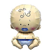 """Фольгована куля фігурний """"Малюк хлопчик"""