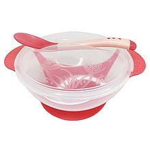 Тарелка с присоской (красная)