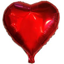 """Фольгована  куля """"Серце"""" червонца"""