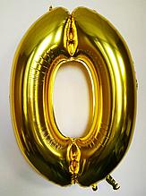 """Фольгований куля цифра 100 см """"0"""" золото без упаковки"""