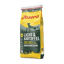 Корм Josera Lachs & Kartoffel з лососем та картоплею для дорослих та літніх собак 15 кг