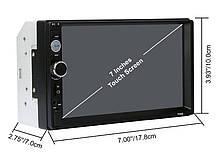 Автомагнітола 2DIN CML-PLAY 7018B магнітола 2 ДІН з екраном 7 дюймів (магнітола в авто, автомагнітола 2 дін), фото 3