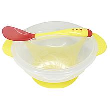 Тарелка с присоской (жёлтая)