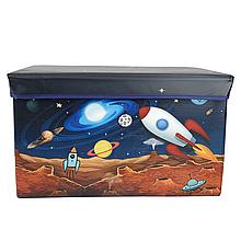 Пуф короб для игрушек (Космос)