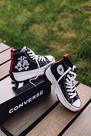 Женские кеды Converse Run Star Hike Hi Keith Haring Black 171859C