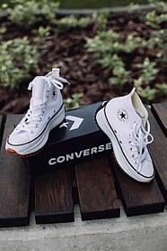 Женские кеды Converse Run Star Hike Hi White Black Gum 166799C