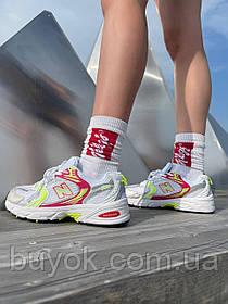 Жіночі кросівки New Balance 530 White Sulfur Yellow MR530CA1