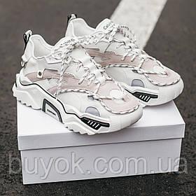 Женские кроссовки Calvin Klein White Strike 205 Leather 205W39NYC