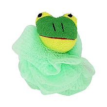 Детская мочалка для купания новорожденных (зелёная)