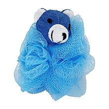 Детская мочалка для купания (голубая)