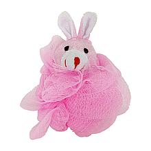 Детская мочалка для купания новорожденных (розовая)