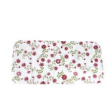 Пелёнка непромокаемая многоразовая (57*120) (Розовые цветы)