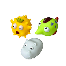 """Дитячі іграшки для ванної """"Тварини"""" (3 шт)"""